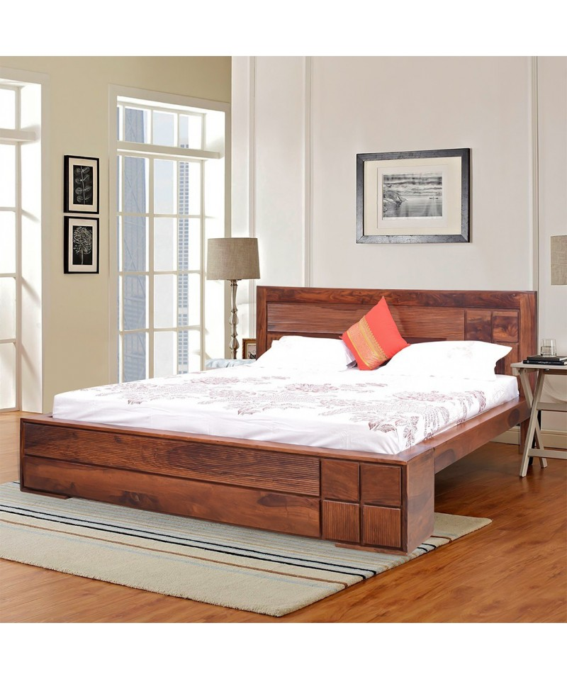 Square king size bed