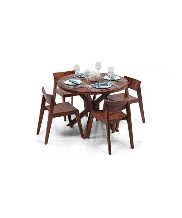 Cross- leg round Dining Table